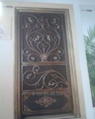 Door metal decorated