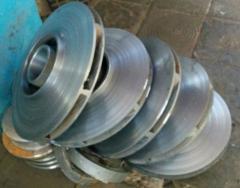 TsNS wheel, iron casting