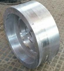 Pressure pulley, molding from steel