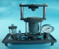Model of a hydraulic press