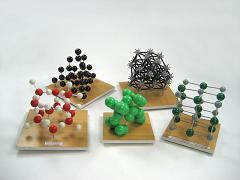 Set of models of crystal lattices (10 pieces)