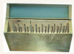 Set of areometers