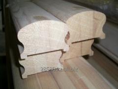 Handrail wooden pine 47х67