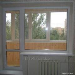 Balconies in Almaty