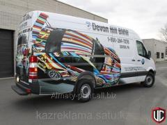 Branding of minivans, gazelles, cargo, cops of