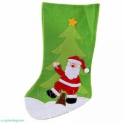 The sock is gift, the size average, color green