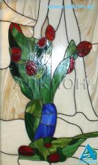 Stained-glass window in the technician Tiffany -