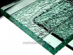 The sheet glass which is thermally tempered