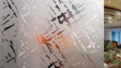 Sheet glass matirovanny decorative