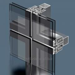 Front system structural glazing