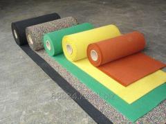 Каучуковое рулонное покрытие мix-цветная крошка