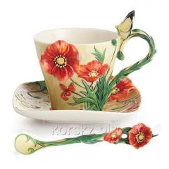 Set cup and saucer Franz Van Gogh Poppy Poppy