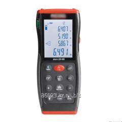 Laser range finder, accurate display of