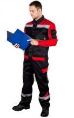 Летний костюм Баланс с полукомбинезоном, цвет