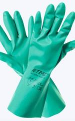 Gloves nitrile KShchS+MBS with a cotton dusting