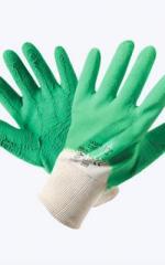 Перчатки стекольщика х/б с 2-м рифленым латексным