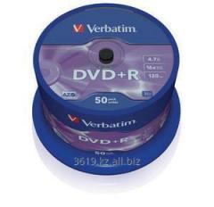 Диски DVD+R SP-050 16X 4.7GB Verbatim (43550)