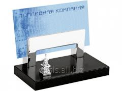 Support for business cards Black gold