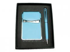 Подарочный набор: визитница, ручка шариковая