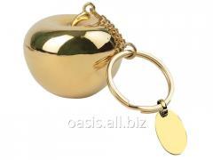 Брелок с шильдом  Золотое яблоко