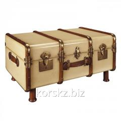 The coffee table, Authentic Models suitcase, the
