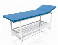 Couch for manual therapy with adjustment of a head restraint and the additional shelf