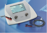 The device for combined ultrasonic and electrotherapies Soleoline, option of execution SoleoGalva