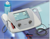 The device for combined ultrasonic and electrotherapies of Soleo SonoStim