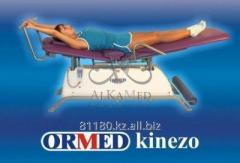 Installation for active and passive mechanotherapy of a backbone Ormed - KINEZO