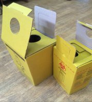 Box for collecting, storage and safe utilization of sharp tools