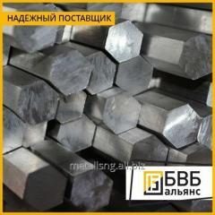 Barras de metal hexagonais