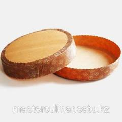Baking dish from a gofrobumaga (round) 185*30