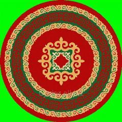 Ковер круглый из шерсти 4N896/167, размер 1х1, код
