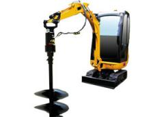 The miniexcavator from 750 kg to 2 tons