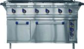 Плита электрическая 6-ти конф. с жар. шк. ЭП-6ЖШ (лицо нерж) (1265(1475)x850(895)x860 мм, 22,8кВт
