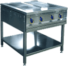 Плита электрическая 4-х конф. без жар шкафа ЭПК-48 П(вся нерж) на подставке(840х900х(860)942,11,2кВт