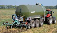 Barrel for liquid manure, cash desks and water