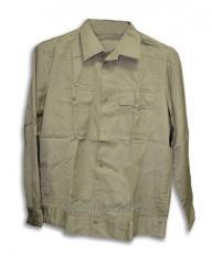 Shirt uniform khaki of an old sample