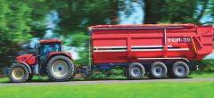 Dumping trailer tractor