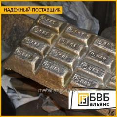El metal blanco Б83 el GOST 1320-74, el lingote de