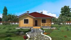 Дом по технологии двойной брус и экологический
