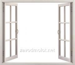 Окно горизонтальное распашное