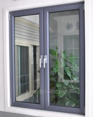 Window from warm and cold aluminum