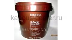 The decolouring powder Kapous with a keratin of
