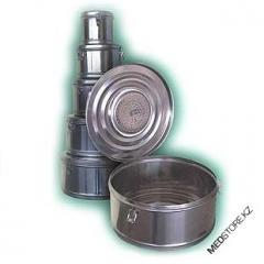 Коробка стерилизационная круглая с фильтром бикс