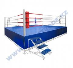 Ring of boxing 6 x 6 m with a scaffold 7,65 x 7,65