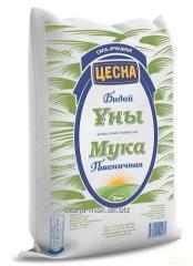 Flour wheaten Tsesna of 50 kg second grade