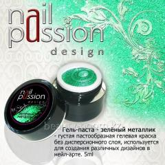 Gel-paste green metallic 5gr Article: GP13