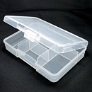 The container for materials, 6 cells, transparen