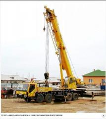 Services of the truck crane of 25-40-50-60-70-100